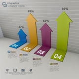 Arrow on Wall Infographic Background Concept Royalty Free Stock Photos