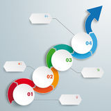 Arrow Wave Circles Timeline Infographic Royalty Free Stock Photography