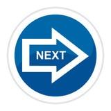 Arrow web button Stock Photography