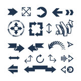 Arrow web icon vector illustration. Royalty Free Stock Photography