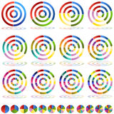 Arrow Wheel Chart Target Icon Set Stock Images