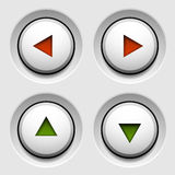 Arrow white circle buttons Royalty Free Stock Images