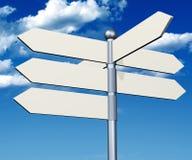 Free Arrow White Sign Stock Image - 33680591