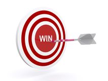 Arrow in a win target Stock Images