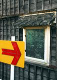 Arrow and window Stock Image