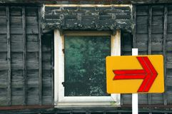 Arrow and window Stock Images