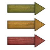 Arrow wood color Stock Photo