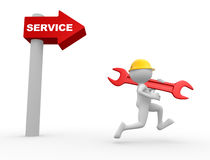 Arrow and the word service. Royalty Free Stock Images