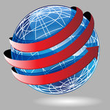 Arrow Wrap Globe. A arrow wraped around a 3d globe Royalty Free Stock Photos