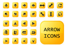 Arrow yellow buttons. Vector EPS Stock Image