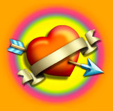 arrow2 καρδιά Στοκ φωτογραφία με δικαίωμα ελεύθερης χρήσης