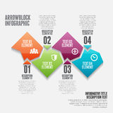 Arrowblock Infographic Royalty Free Stock Image