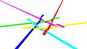 Arrowed abstraction vector illustration