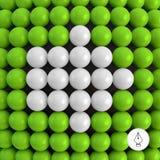 arrowed Abstrakcjonistyczny technologii tło z piłkami Obraz Stock