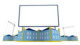 arrowed building and billboard Stock Photo