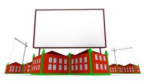 Arrowed building and billboard Stock Photos