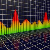 Arrowed business chart Stock Photo