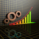 Arrowed business chart Stock Image