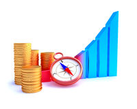 Arrowed business chart Stock Photo