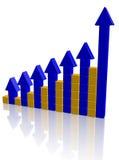 Arrowed chart bar Royalty Free Stock Photo