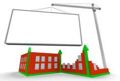 Arrowed chart and billboard Stock Image