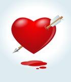 Arrowed heart Stock Photos