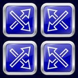 arrowed Metal ikony Obraz Royalty Free