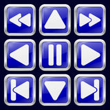arrowed Metal ikony Obraz Stock