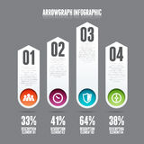 Arrowgraph Infographic Stock Image