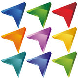 arrowhead κενό κουμπί Στοκ Εικόνες