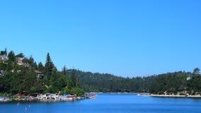 Arrowhead Lake. Beautiful day in Lake Arrowhead California stock footage