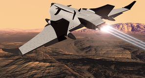 Arrowhead Shuttle. EOS Mars Program Shuttle Orbiter Stock Photography