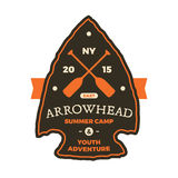 Arrowhead sign Stock Photography