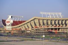 Arrowhead Stadium, dom kansas city chiefs, Kansas City, MO zdjęcia stock