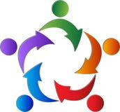 Arrowhead team. A  drawing represents arrowhead team design Royalty Free Stock Photo