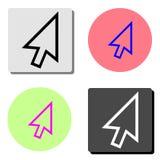 arrowheaden Plan vektorsymbol vektor illustrationer