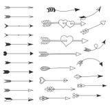 arrowheaden set vektor för elementillustration royaltyfri illustrationer
