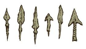 arrowheads Vecteur dans le style de gravure Image libre de droits