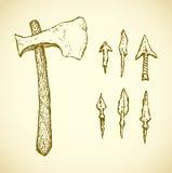 arrowheads Vecteur dans le style de gravure Photos libres de droits