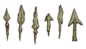 Arrowheads. Vector in engraving style Royalty Free Stock Image