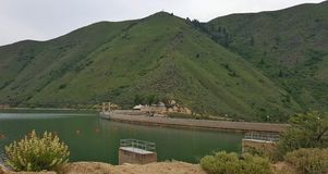 Arrowrock Dam. Boise River, 6 miles off Idaho's Highway 21, above Lucky Peak Lake.1 Stock Photography