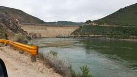 Arrowrock Dam. Boise River's Arrowrock Dam sits above Lucky Peak Lake, 6 miles off Highway 21 Stock Image