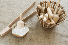 Arrowroot powder Royalty Free Stock Photography