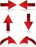 Arrows. Easy to change size or change color stock illustration