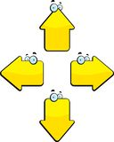 Arrows. Cartoon arrows pointing in four different directions Stock Photos