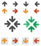 Arrows. Various collection of arrows on white royalty free illustration