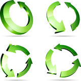 Arrows. 3d recycle symbols. Vector illustration Stock Image