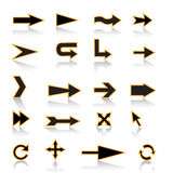 Arrows. For assistance in various forms and directions Royalty Free Stock Image