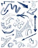 Arrows. Doodles set. Vector illustration Stock Illustration