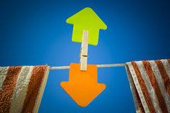 Arrows. Paper arrow with some directions Royalty Free Stock Images